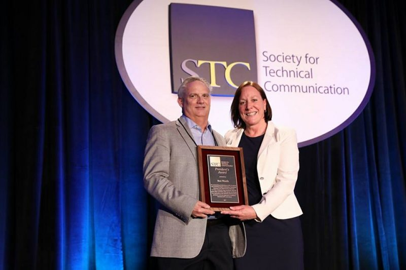 Ben Woelk and STC President Adrianne Hunt