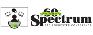 black, white and green logo for Spectrum Conference sixtieth anniversary